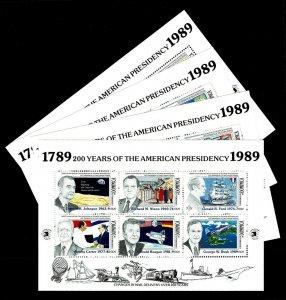 1989 Dominica #1204-07 Commemorative Souvenir Sheet - OGNH - VF - $24.00 (E#032)