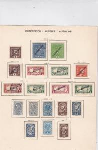 austria 1918-19 overprints stamps   ref 10620