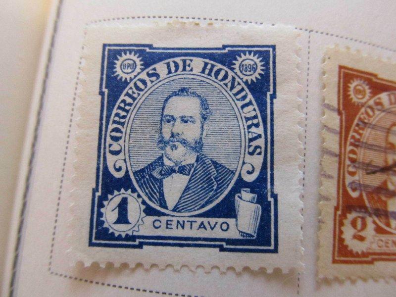 Honduras 1896 1c fine mh* stamp A11P11F22