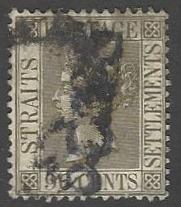 Straits Settlements #96 Used Queen Victoria (U1)
