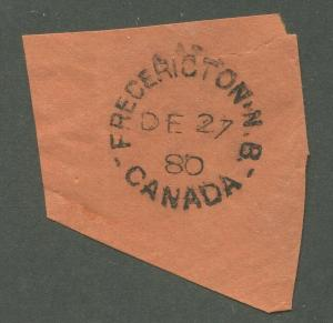 NEW BRUNSWICK SPLIT RING TOWN CANCEL FREDERICTON