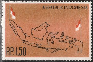 INDONESIA 597, ACQUIRED TERRITORY OF DUTCH NEW GUINEA, MINT, NH  VF. (433)
