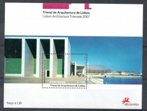 2007  PORTUGAL -  SG:MS 3462 - CONTEMPORARY ARCHITECTURE - UNMOUNTED MINT