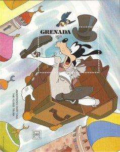 Grenada 1987 Disney Goofy, Andersen's Fairy Tale Sheet Scott #1569
