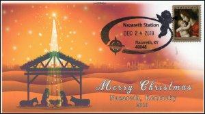 19-311, 2019, Christmas, Pictorial Postmark, Event Cover, Nazareth KY, Nativity,