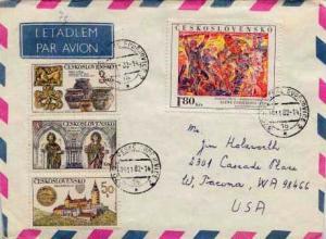 Czechoslovakia, Airmail, Art, Religion