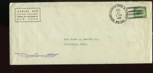 C2 AIR MAIL FIRST FLIGHT COVER JULY 15 1918 TO CLEVELAND OHIO (L1141 E)