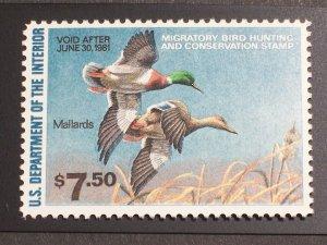 US Duck Stamp - Scott# RW47 Mint NH Single  Free Shipping