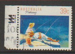 Australia SG 1179 FU  perf 14 x 14 1/2   - left margin wi...