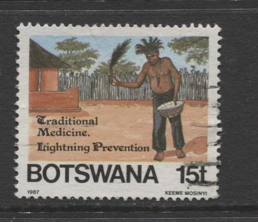 Botswana - Scott 394 - Traditional Medicine -1987 - VFU - Single 15t Stamp