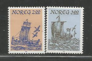 NORWAY, 829-830, H, NORTHERN SHIPS