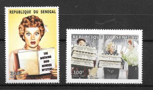 Senegal MNH 1426-7 I Love Lucy Lucille Ball SCV 2.40