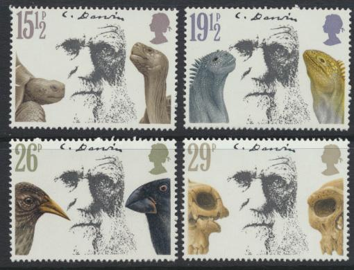 GB SG 1175 - 1178  SC# 965-968 Mint Never Hinged - Charles Darwin