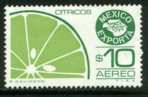MEXICO Exporta C602 $10P Citrus fruit Wmkd Fosfo Paper 2 MNH