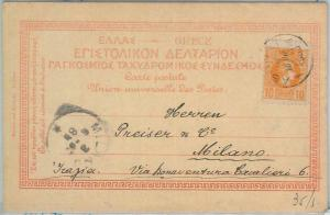 77547 - GREECE  - Postal History -  POSTCARD from ATHENS   to  ITALY  1900