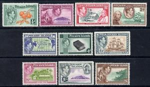 Pitcairn Islands 1940-51 KG6 definitive set complete 10 v...