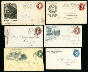 US 1800s to 1916 Lot of 61 Very Old Stationary Stamp Covers