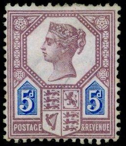 SG207 SPEC K35(1), 5d dull purple & blue, DIE I, UNUSED. Cat £800.