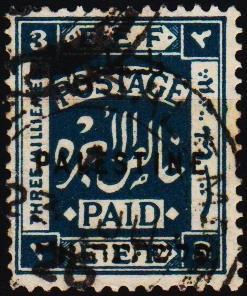 Palestine.1920 3m S.G.73 Fine Used