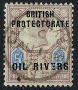 Niger Coast Protectorate Scott 5 Unused hinged.