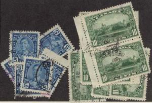 Canada - 1935 Silver Jubilee 5c & 10c X 7 each Used