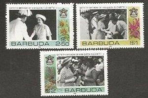 1986 Barbuda 868-870 60 years of the coronation of Elizabeth II 6,50 €