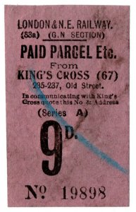 (I.B) London & North Eastern Railway (GN section) : Parcel 9d (King's Cross)