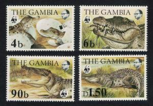 Gambia WWF Nile Crocodile 4v SG#544-547 MI#517-520 SC#515-518