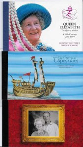 Guernsey 1997 Golden Wedding, Tapestries & Q Mother prestige booklets SB62-3, 66