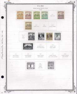 1918-1924 Fiume Mint & Used Postage Stamp Collection Album Pages Value $575