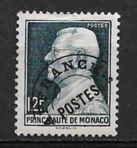 1949 Monaco 235 12F Louis II Precancel used