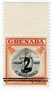 (I.B) Grenada Revenue : Duty Stamp 2c on $1.50 OP