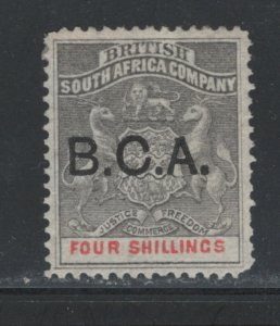 British Central Africa 1893 Overprint 4sh Scott # 11 MH NG