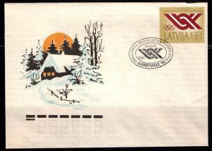 Latvia Scott B152 Olympic Committee semi-postal FDC
