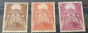 LUXEMBOURG Sc.# 329-31 Europa 1957 MNH