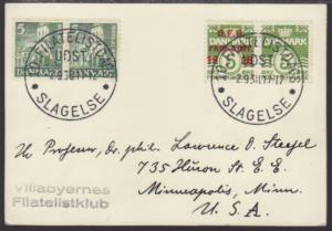 Denmark 263 Numeral 1938 Pen FDC