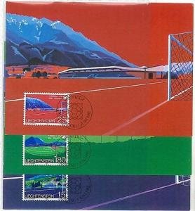 SPORT - FOOTBALL : 3 MAXIMUM CARD - LIECHTENSTEIN 1982