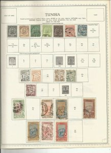 TUNISIA  OLD  MH/USED COLECTION WITH CLASSICS 12 PAGES