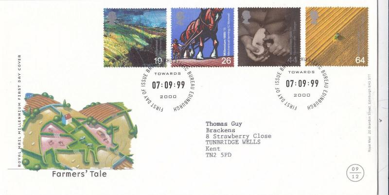 GB 1999 The Farmers Tale FDC Edinburgh CDS VGC