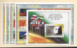 Sierra Leone, 1167-71, Exploration of Mars 4 Shts(9) &SS,MNH