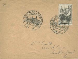 France 3F+2F Stamp Day Semi-Postal 1946 Paris, Salon de l'Automobile Illustra...