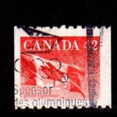 Canada - #1394 Flag Coil - Used
