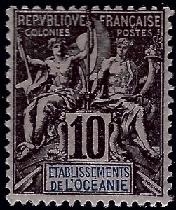 French Polynesia Sc#6 Mint OG F-VF SCV$30..French Polynesia is Hot!