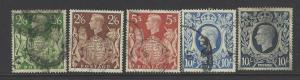 VEGAS - 1939-42 Britain - Sc# 249-251a - Used - No Significant Flaws - DK70