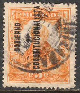 MEXICO 427, 5c REVOLUT OVPT GOBIERNO $ CONSTITUC. Used. F-VF. (295)
