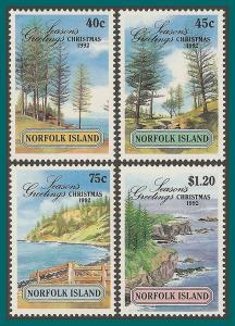 Norfolk Island 1992 Christmas, MNH #529-532,SG537-SG540