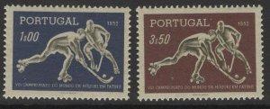 PORTUGAL SG1067/8 1952 WORLD ROLLER SKATING HOCKEY CHAMPIONSHIPS MNH