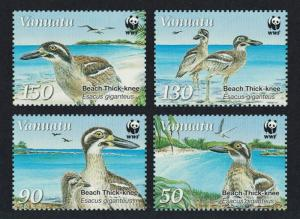 Vanuatu Birds WWF Beach Thick-knee 4v SG#MS1063 MI#1401-1404 SC#979