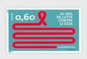 2011   LUXEMBOURG  -  SG  1923 - 30th ANIV. DISCOVERY OF AIDS - UMM