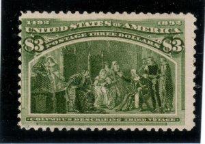USA #243 Never Hinged Mint